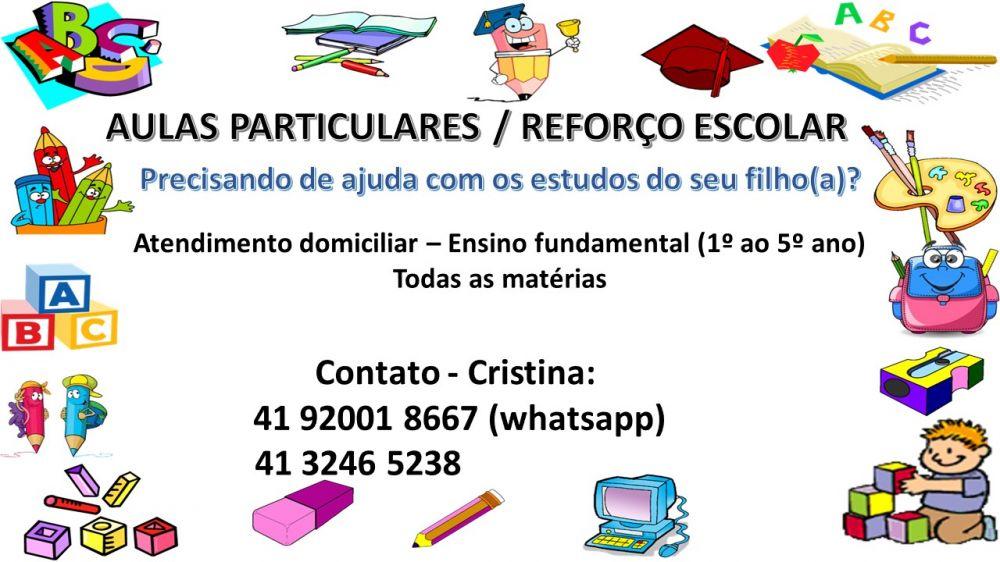 Aulas particulares / reforço escolar