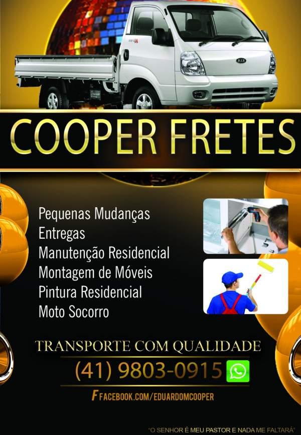 Cooper fretes - carretos - pequenas mudanças