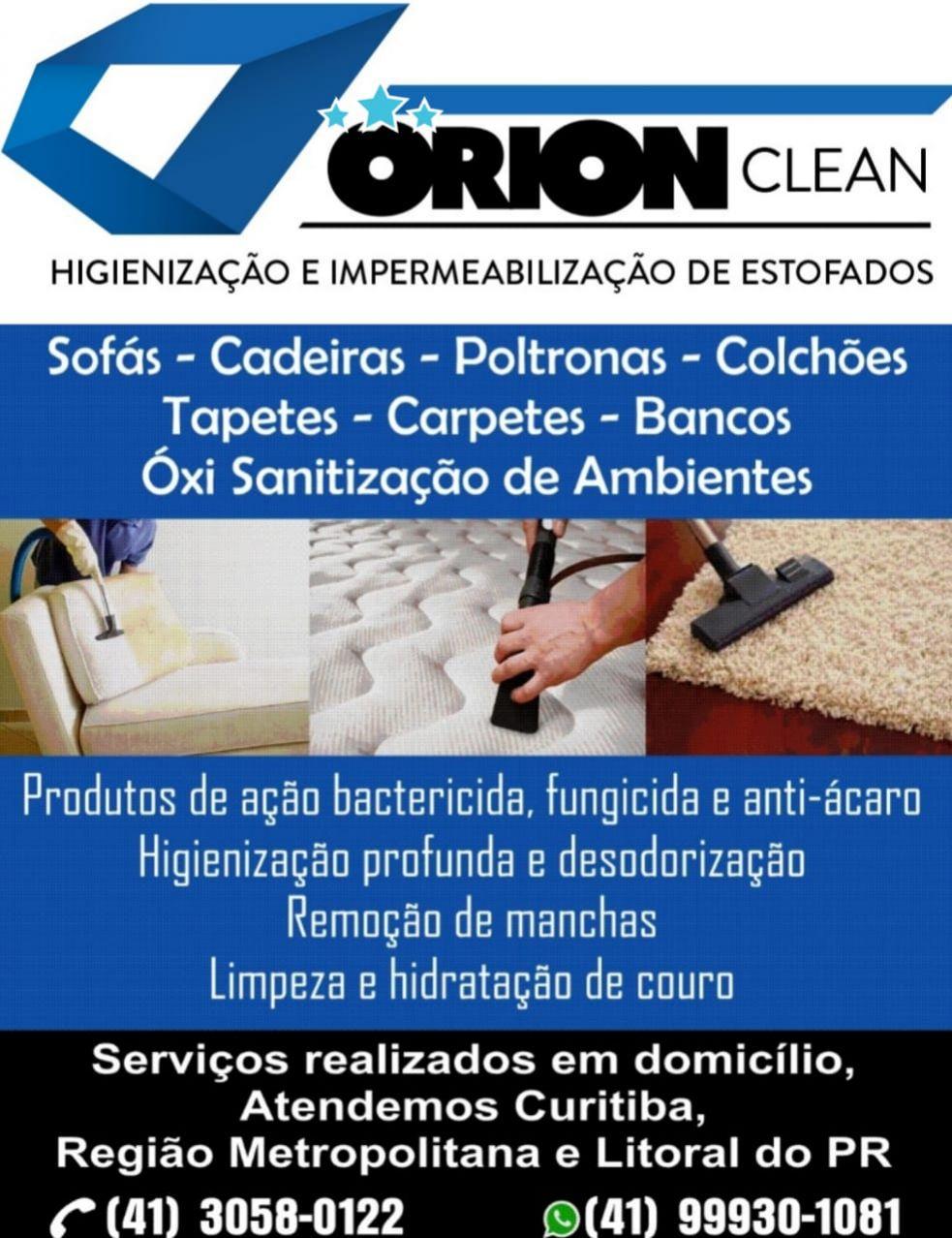 Orion clean,higienização de estofados em curitiba