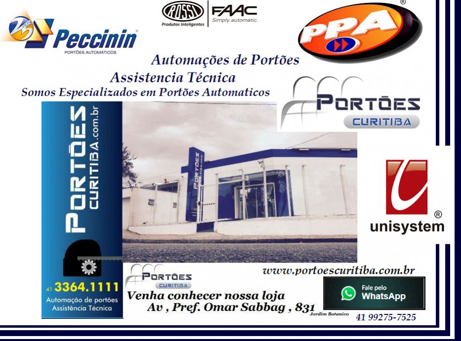 Portões curitiba , especializada em automação de portões eletricos .